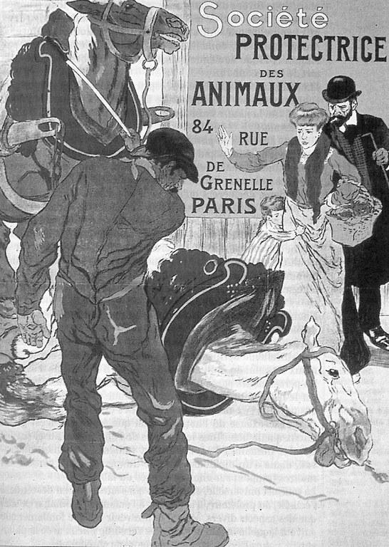 Léon CARRE, Affiche pour la SPA - 1904