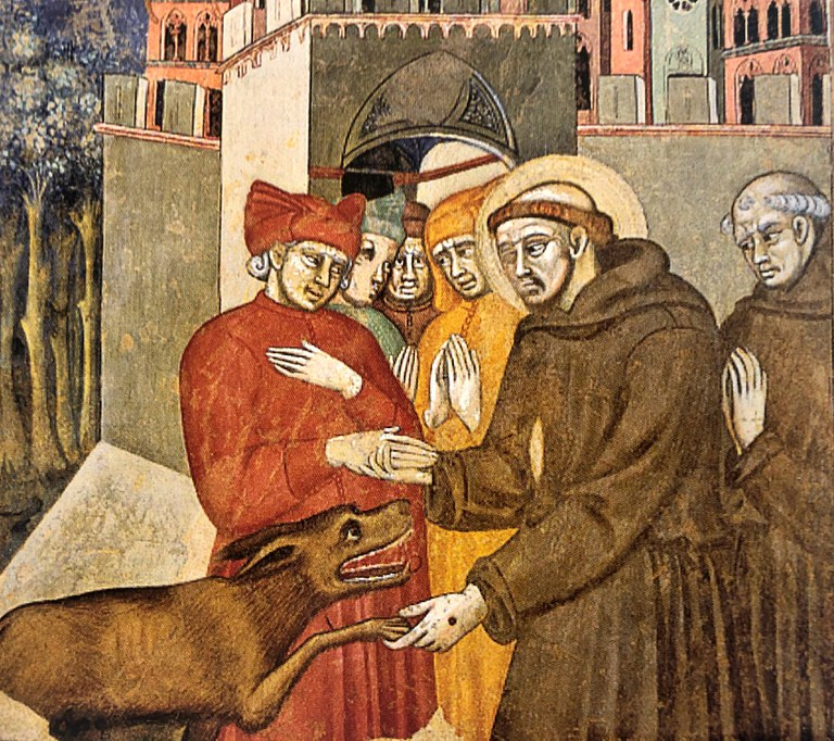 Cristoforo di Bindoccio e Meo di Pero - San Francesco e il lupo di Gubbio
