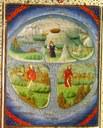 Division du monde entre les trois fils de Noé - vers 1450