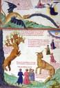 Dragon vomissant un fleuve - vers 1450