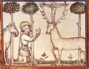 Saint Eustache et le cerf - XV siécle