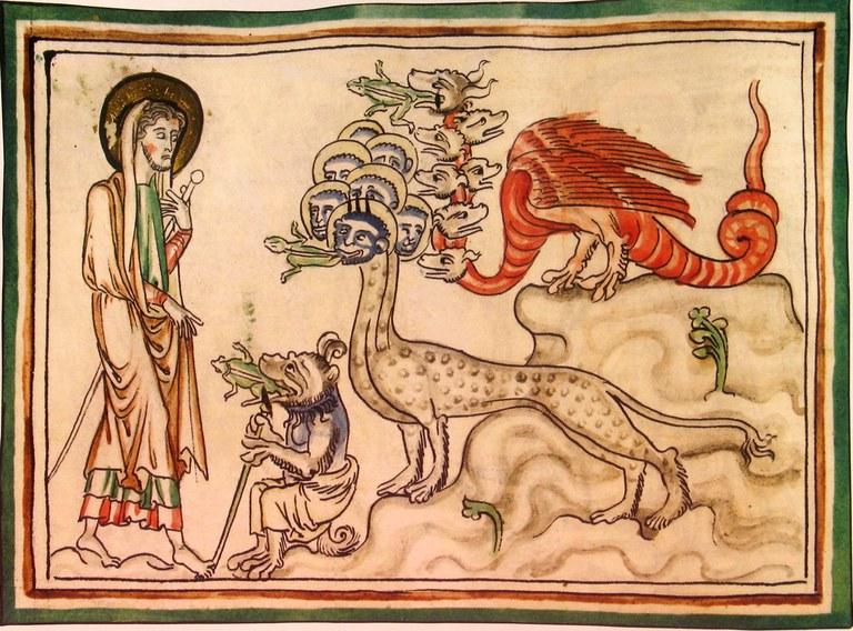 Jean face à Malignité, Suprématie et le faux prophète - vers 1250
