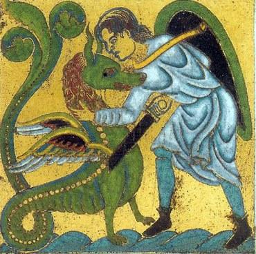 Dragon terrassé par Saint Michel