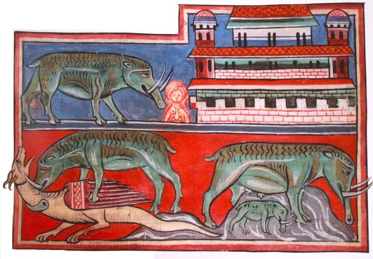 Les vertus de l'éléphant (vers 1230)