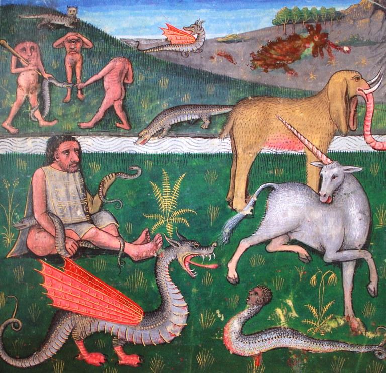 L'Ethiopie et ses créatures monstrueuses (vers 1480-1490)