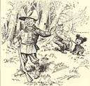 Le président Roosevelt qui refuse de tuer l'ours capturé